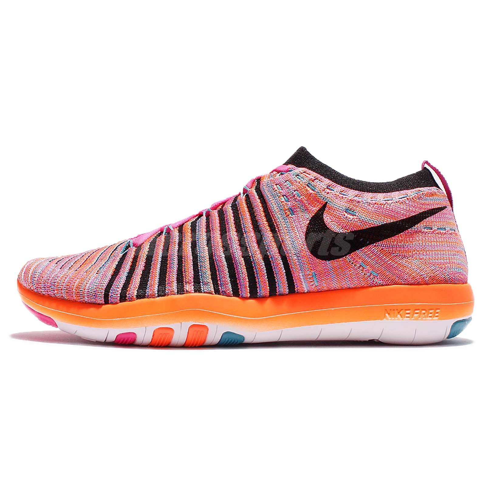 wmns nike free transform flyknit pink orange