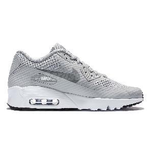 Nike Air Max 90 Gs Gris Formateurs De Jeunes Blancs Chaussures