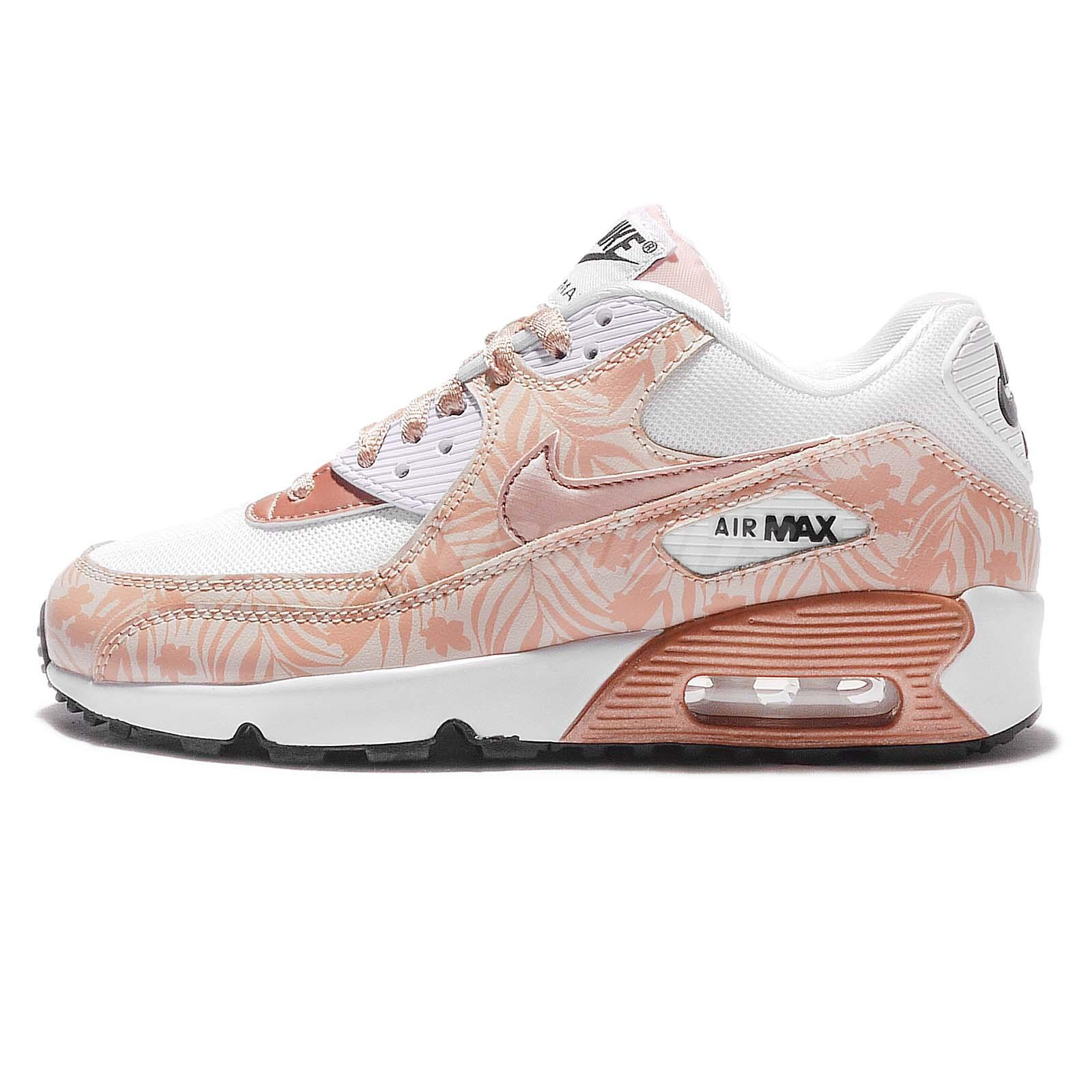 nike air max 90 print mesh gs metallic red bronze women. Black Bedroom Furniture Sets. Home Design Ideas