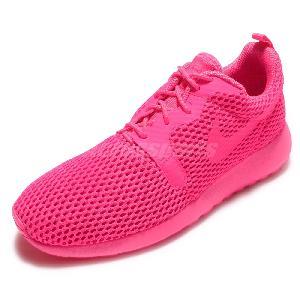 mens nike roshe run hyp all pink