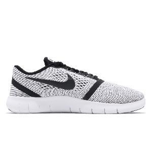 ... Nike Free RN GS Run White Black Kids Youth Girls Running Shoes  833989-100 ...