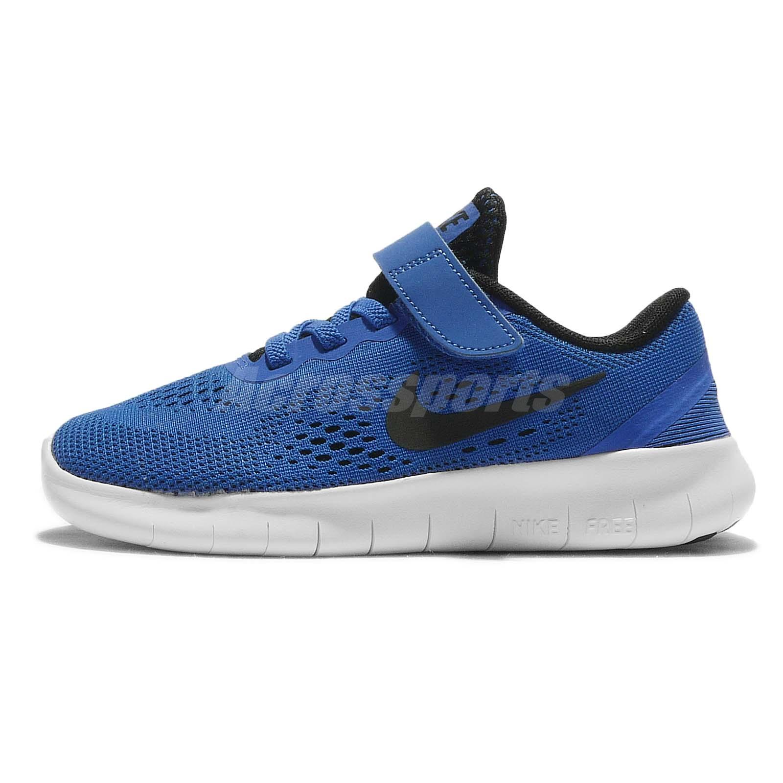 nike free preschool nike free rn psv black blue preschool boys running shoes 330