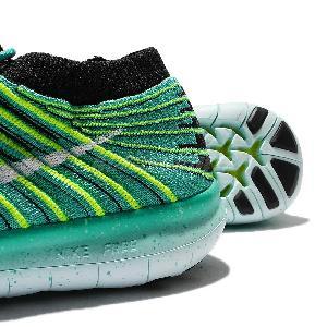 ... Wmns Nike Free RN Motion Flyknit Run Green Black Womens Running Shoes  834585-300