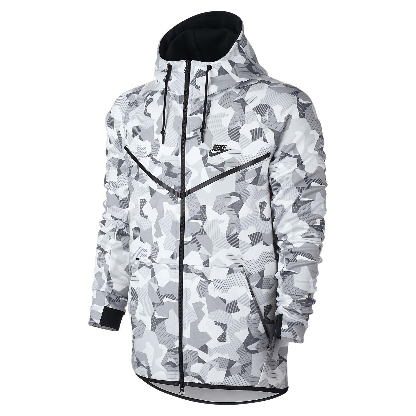 nike sportswear as tech fleece grey white camo mens. Black Bedroom Furniture Sets. Home Design Ideas