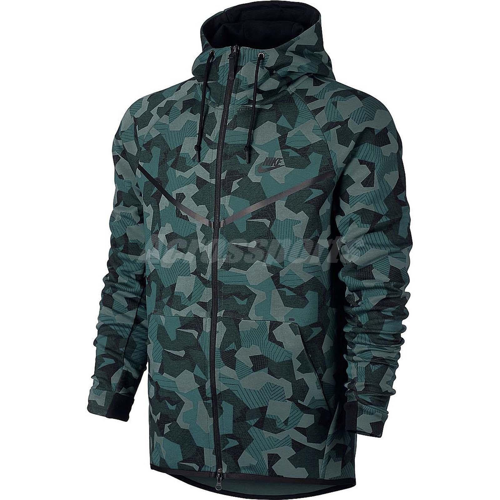 nike sportswear tech fleece windrunner aop full zip hoodie