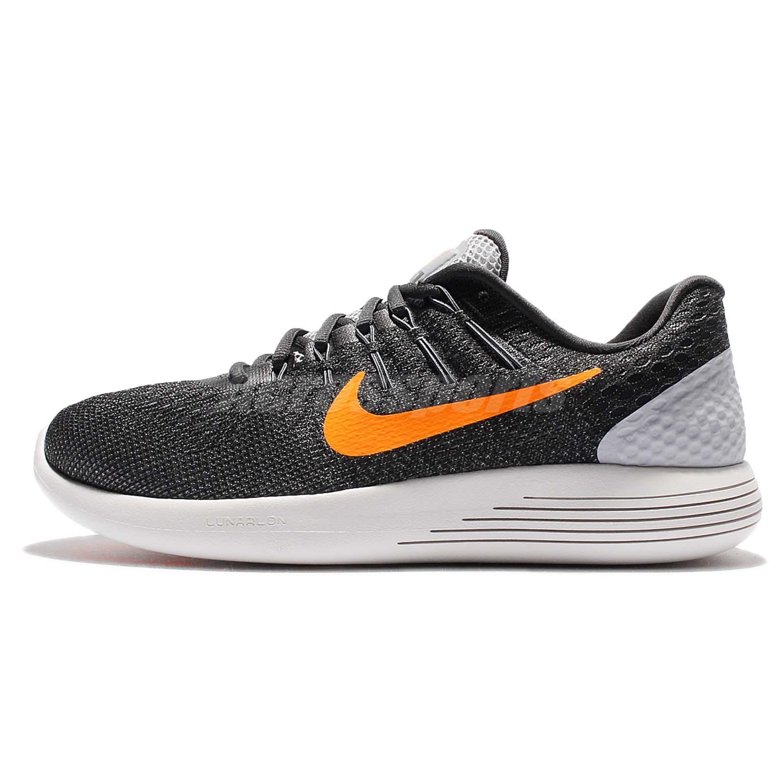 nike lunarglide grey orange