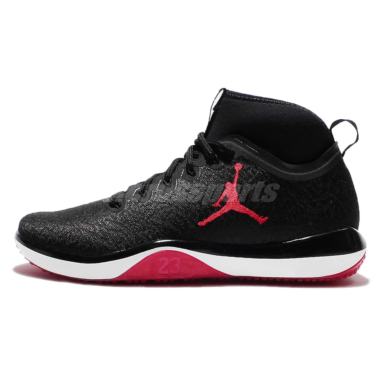 Nike Air Jordan Trainer 1 Black Red Men Cross Training Shoes Trainers 845402-001 | EBay