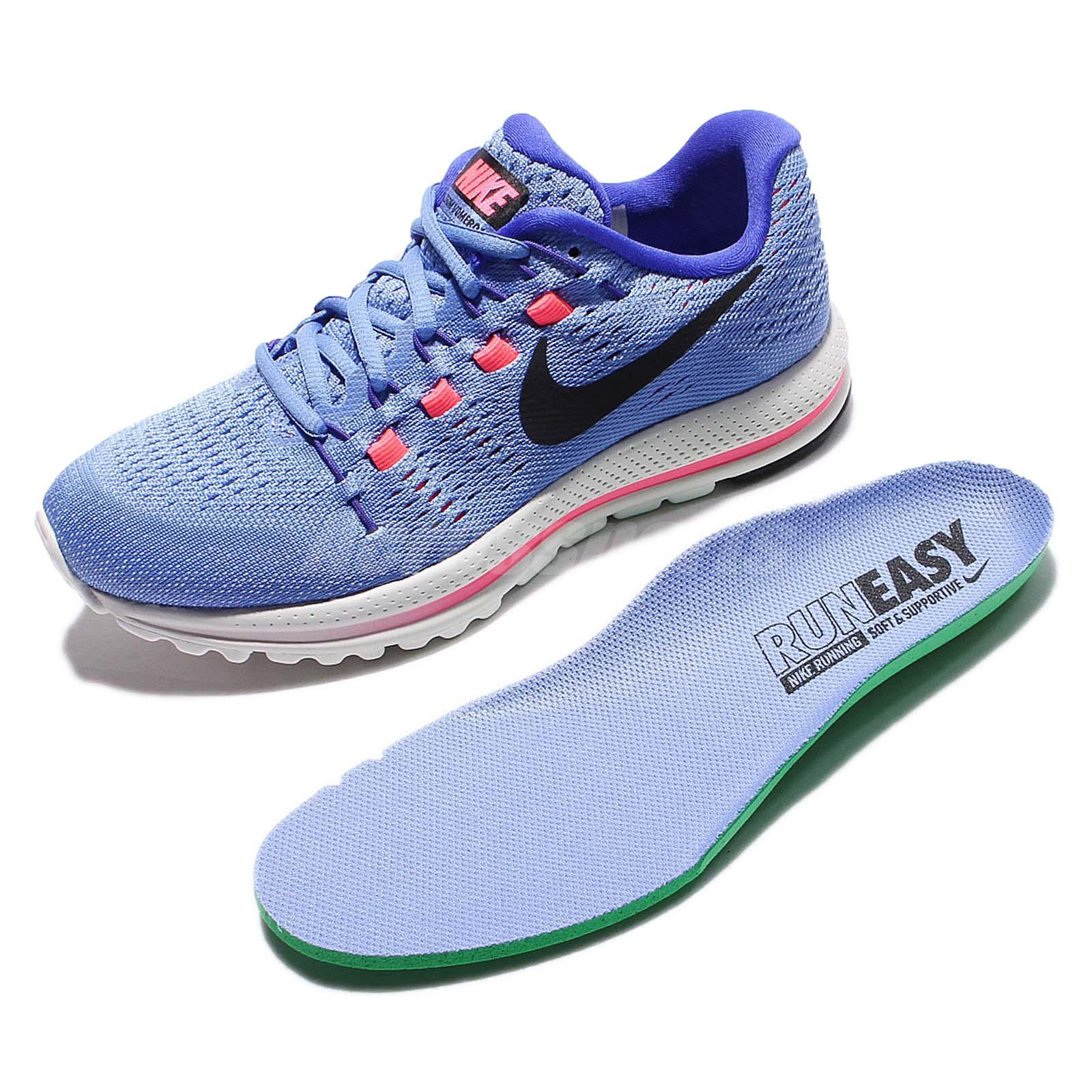 wmns nike air zoom vomero 12 blue pink women running shoes sneakers 863766 400 ebay. Black Bedroom Furniture Sets. Home Design Ideas