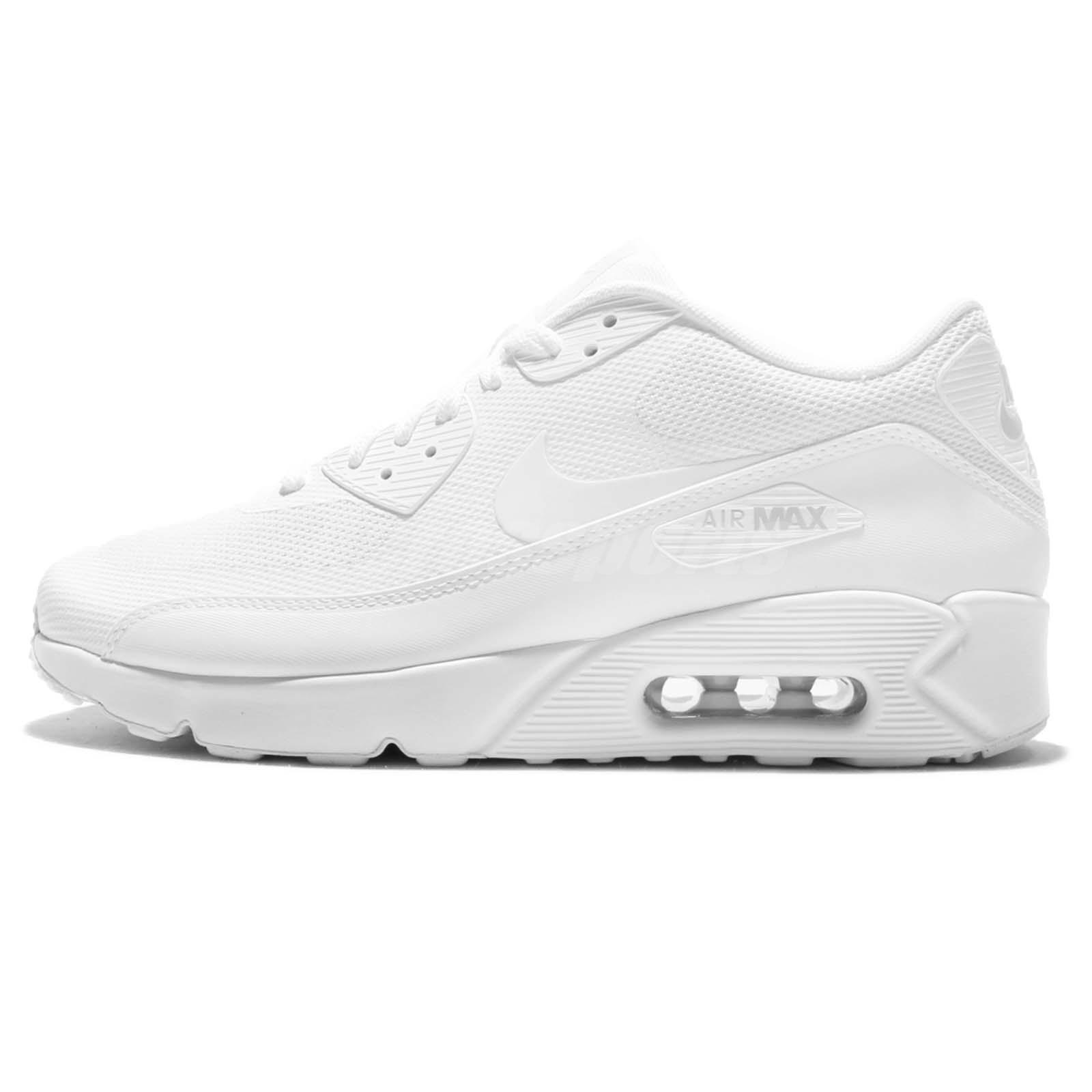 new arrival d82d5 4399b ... Nike Air Max 90 Ultra 2.0 Essential Triple White Men Running Shoes  875695-101 ...
