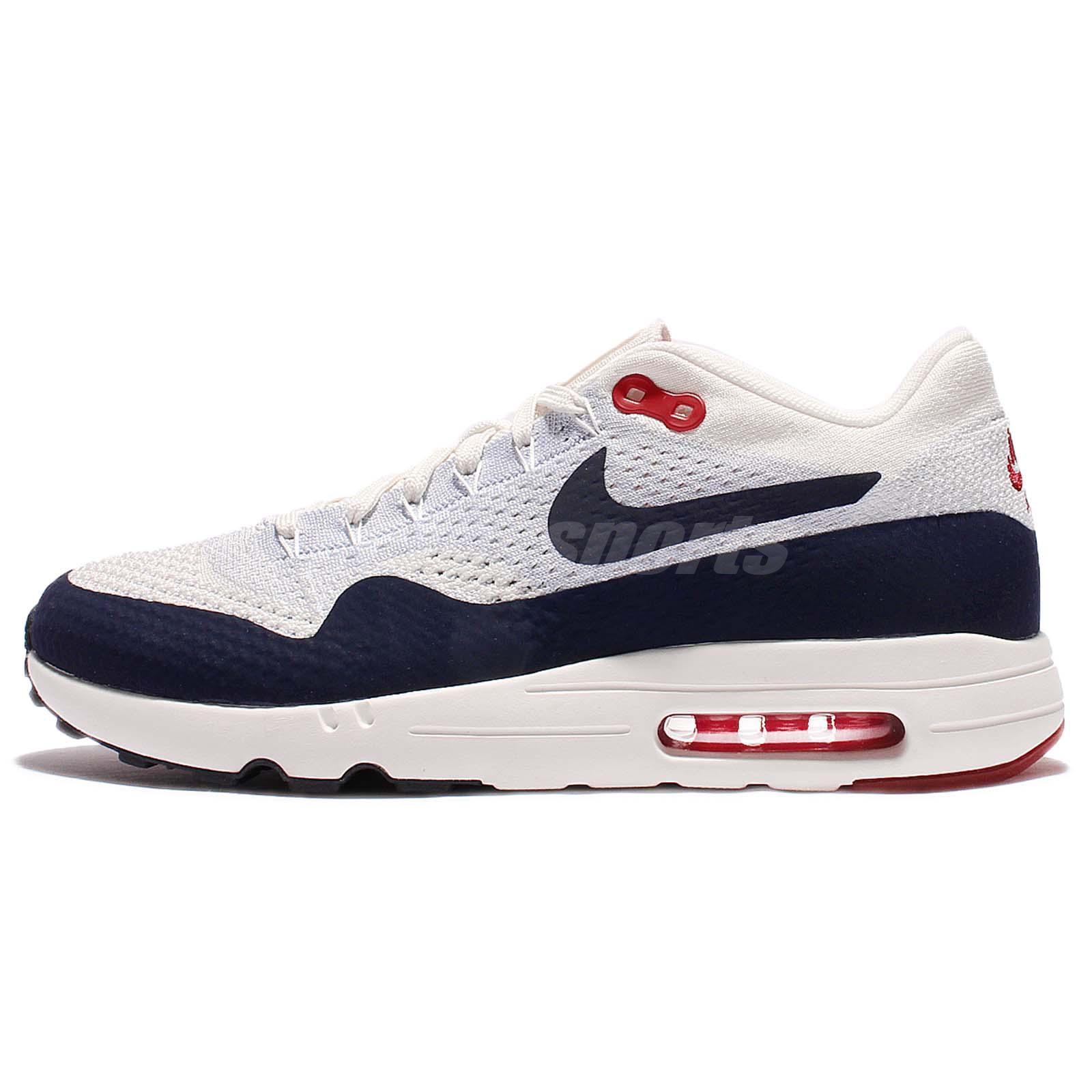 best value 17de0 02816 ... Nike Air Max 1 Ultra 2.0 Flyknit Obsidian Men Running Shoes Sneakers  875942-100 ...
