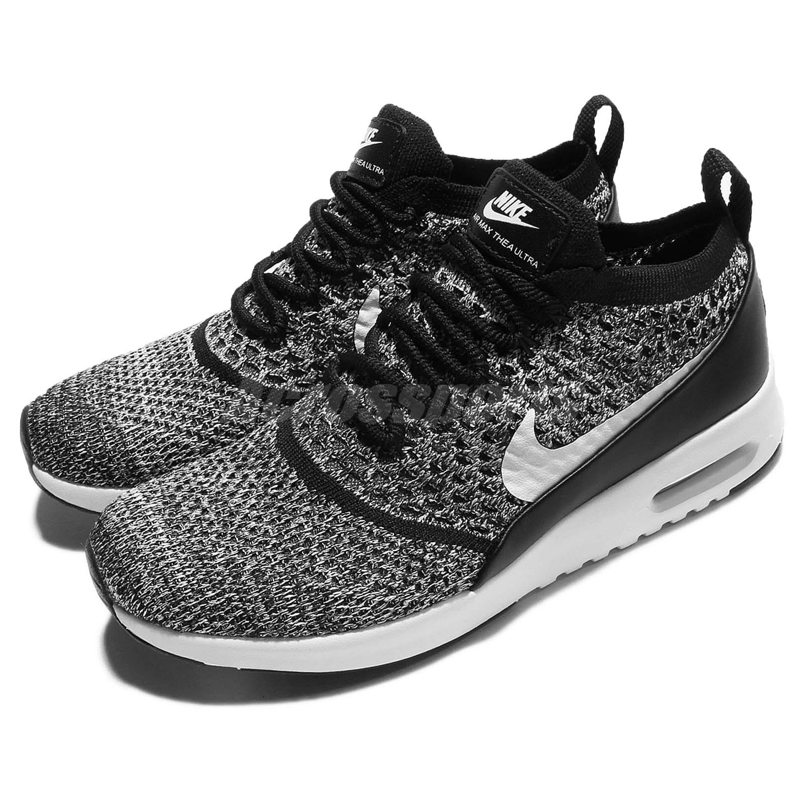 wmns nike air max thea ultra fk flyknit black white women. Black Bedroom Furniture Sets. Home Design Ideas