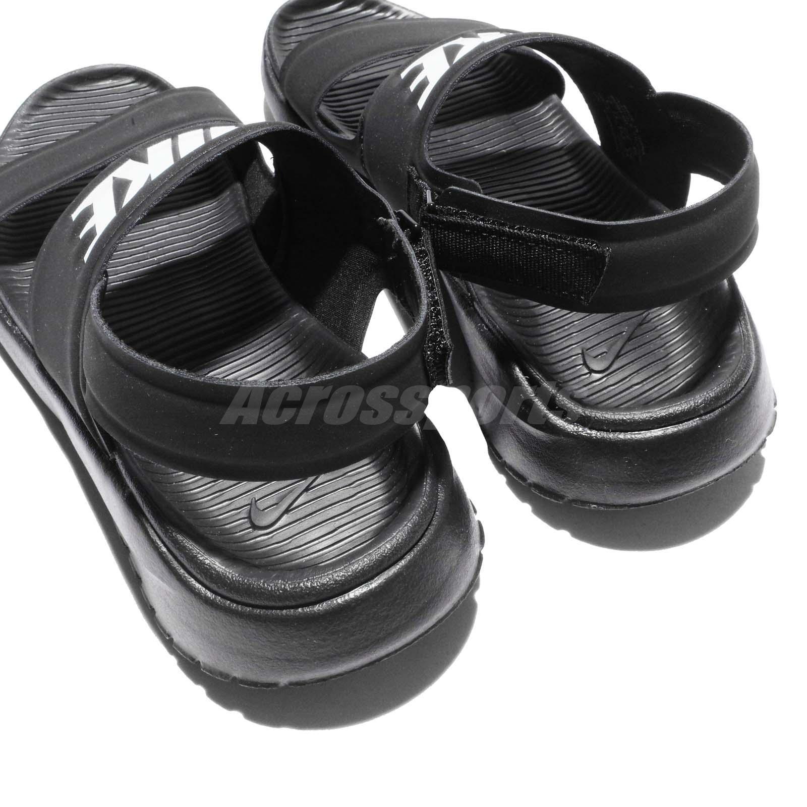 Wmns Nike Tanjun Sandal Black White Womens Fashion Sandals ...