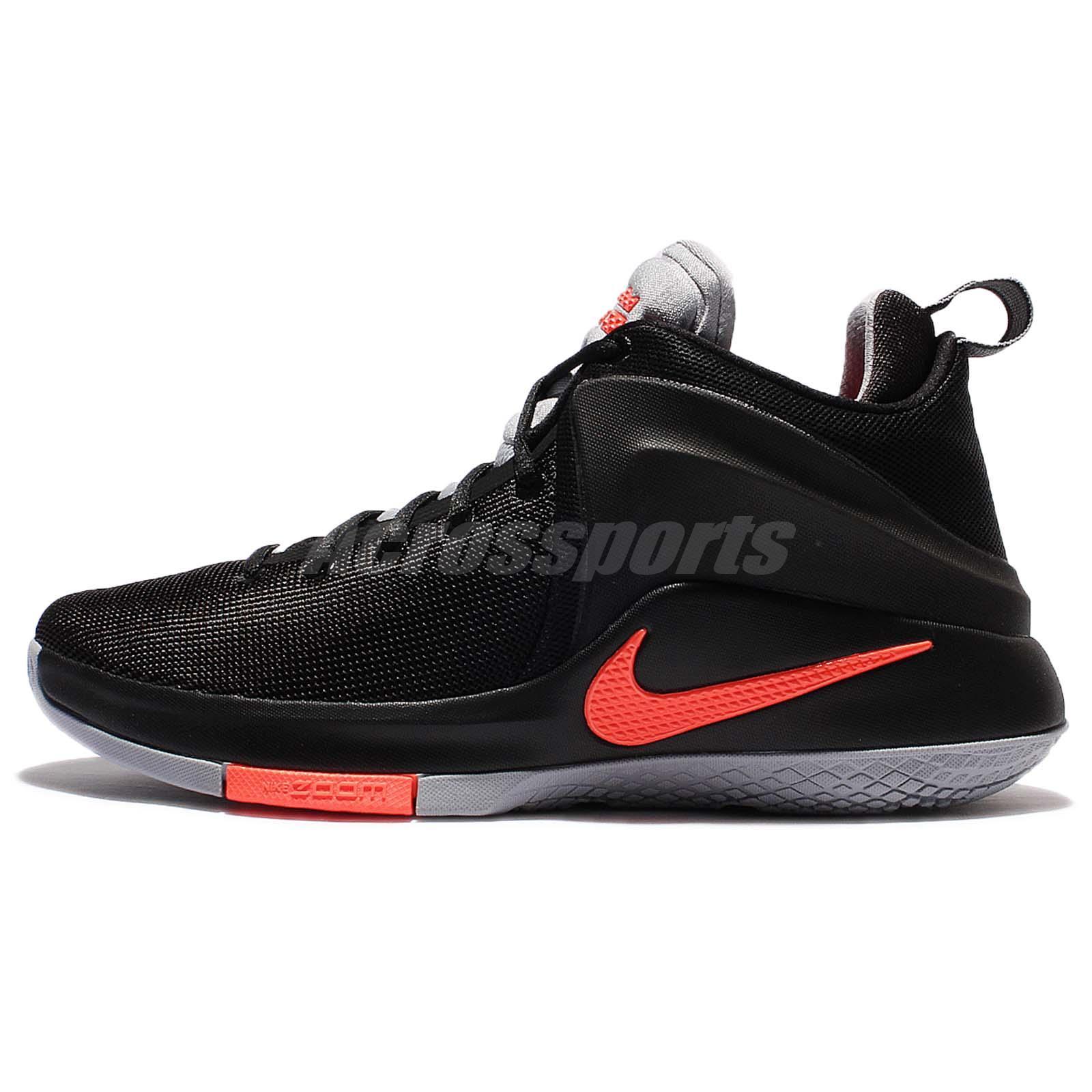 super popular ad5af 86a89 Nike Zoom Witness EP Lebron James Black Men Basketball Shoes 884277