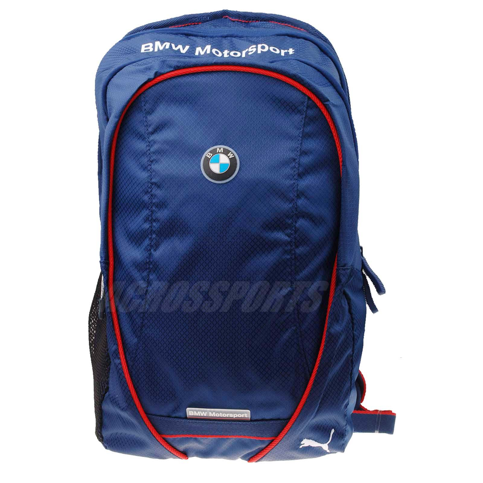 puma bmw motorsport multifunction backpack navy red bag. Black Bedroom Furniture Sets. Home Design Ideas