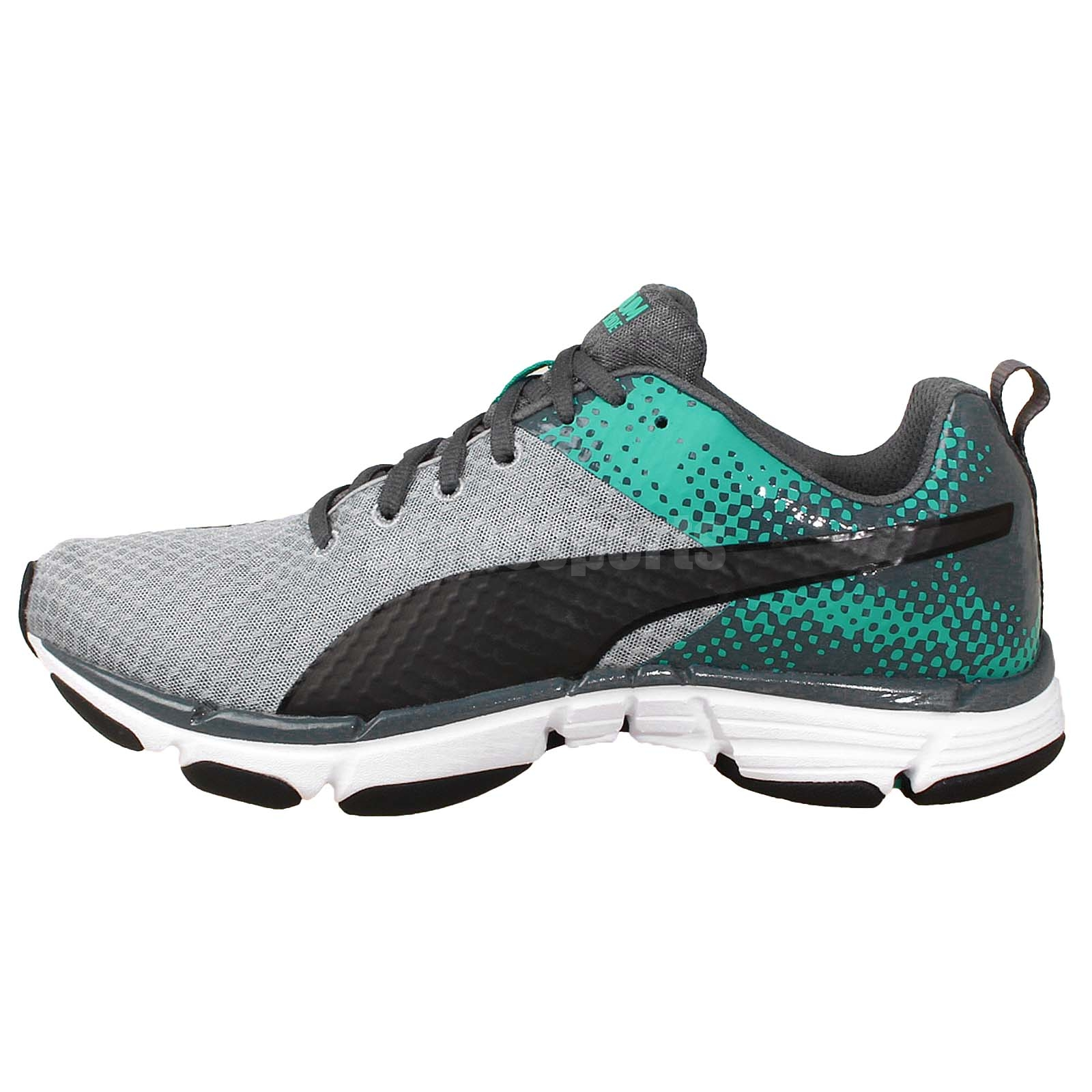 puma mobium ride grey green forever faster mens jogging