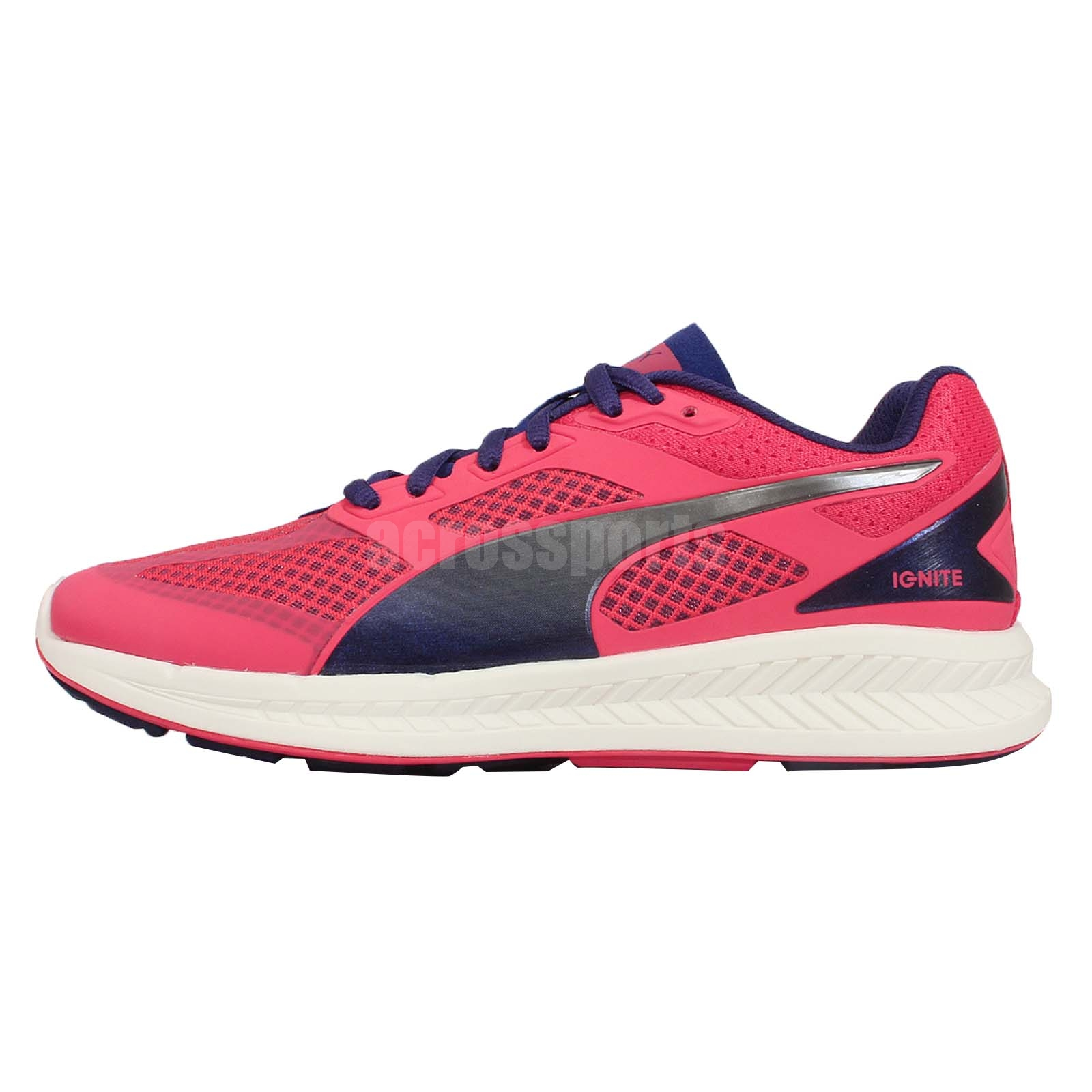 ignite mesh wns pink blue womens racing running shoes