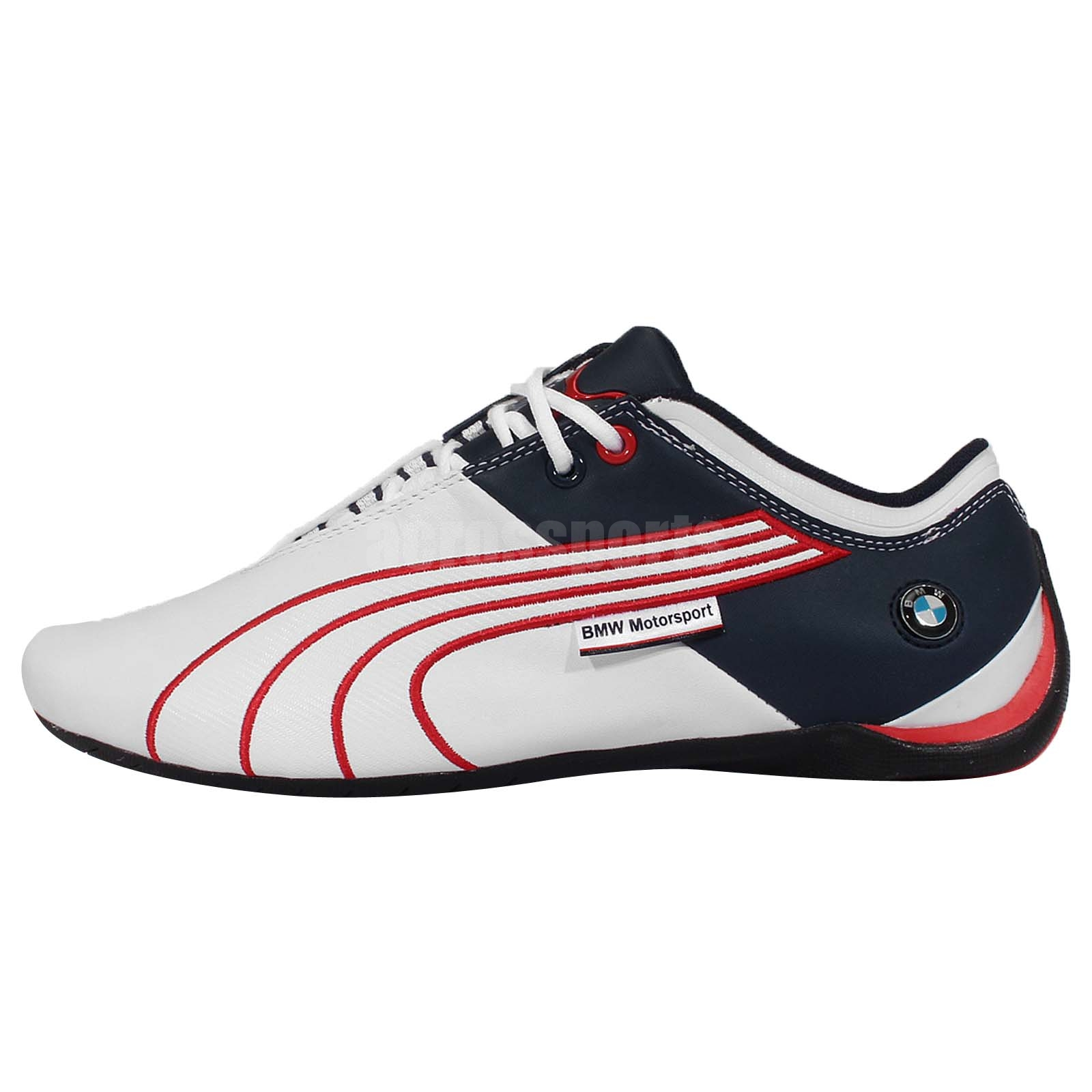 Puma BMW MS Future Cat M1 Leather Navy Red 2015 Mens