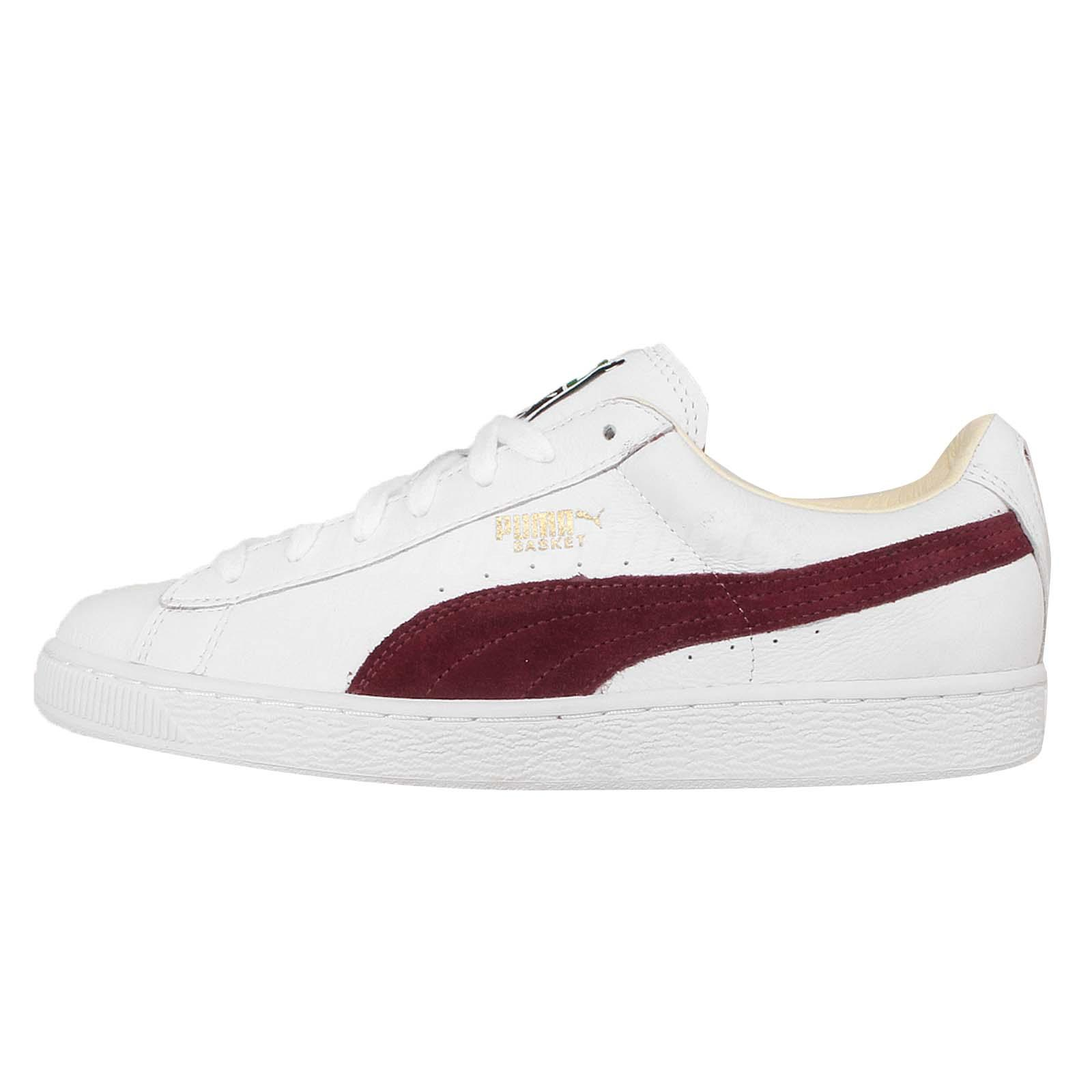 puma basket classic white brown mens retro shoes sneakers trainers 351912 38 ebay. Black Bedroom Furniture Sets. Home Design Ideas
