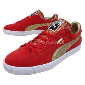 puma suede classic fil red gold mens casual shoes
