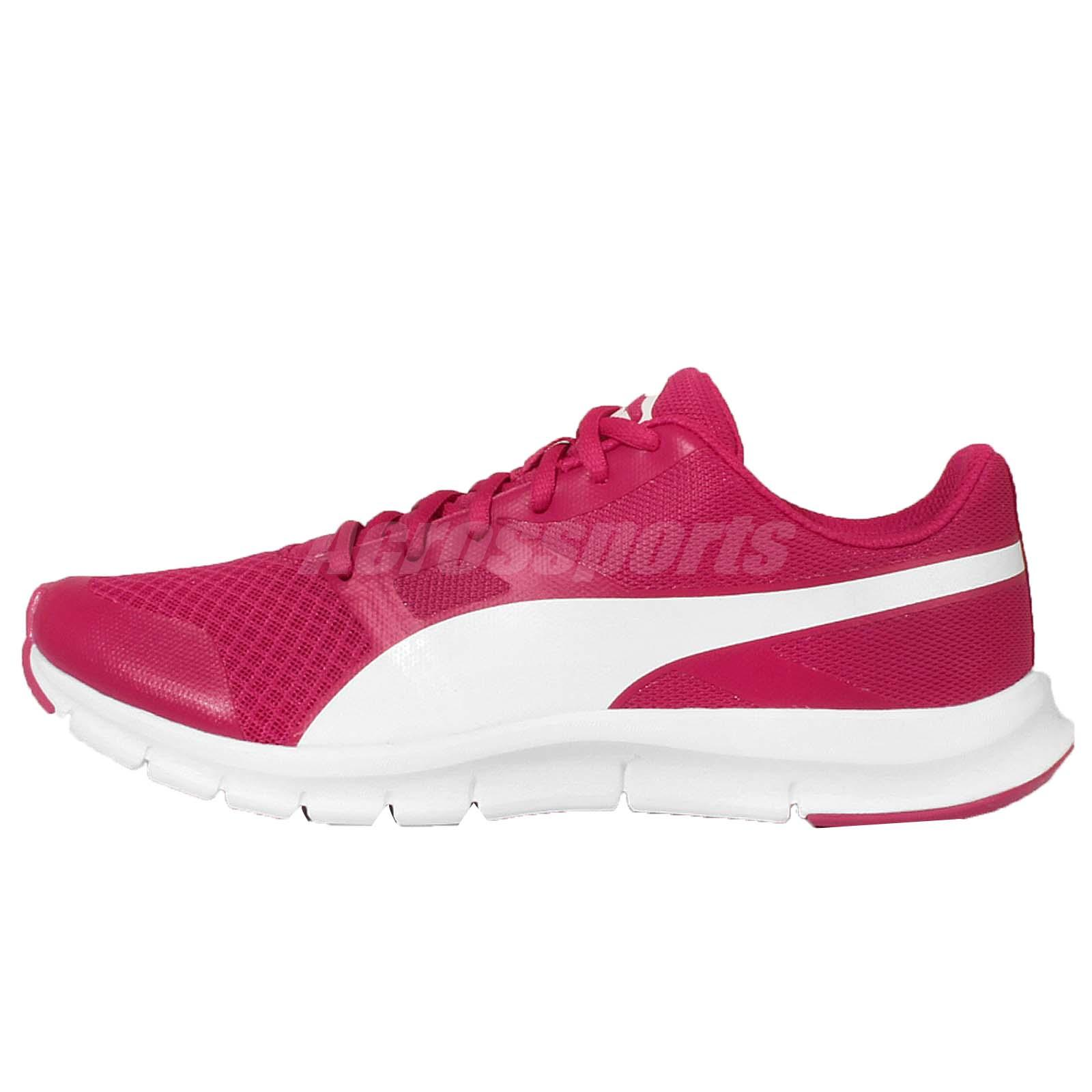 Puma Flexracer Rose Red White Mens Running Shoes Womens Size ...