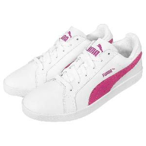 puma smash wns l white pink womens casual retro tennis