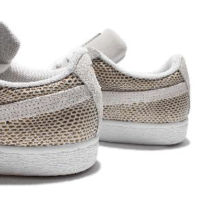 puma suede gold wns pack white gold womens casual shoes