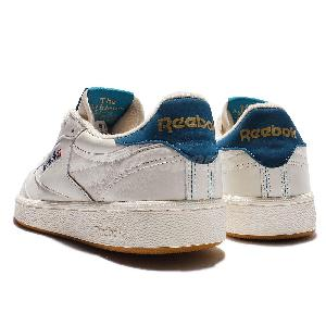 Reebok Club C 85 Retro Gum Beige Navy Mens Casual Shoes Vintage Sneakers AQ9844