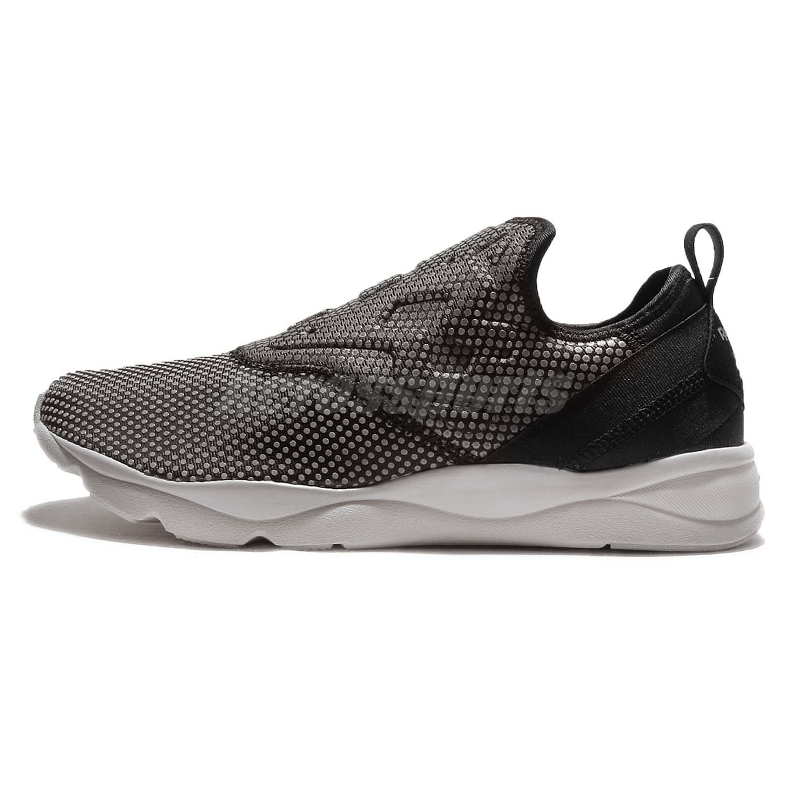 Reebok Furylite Slip-On RD Road Black Steel Mens Running Shoes Sneakers  AR0575