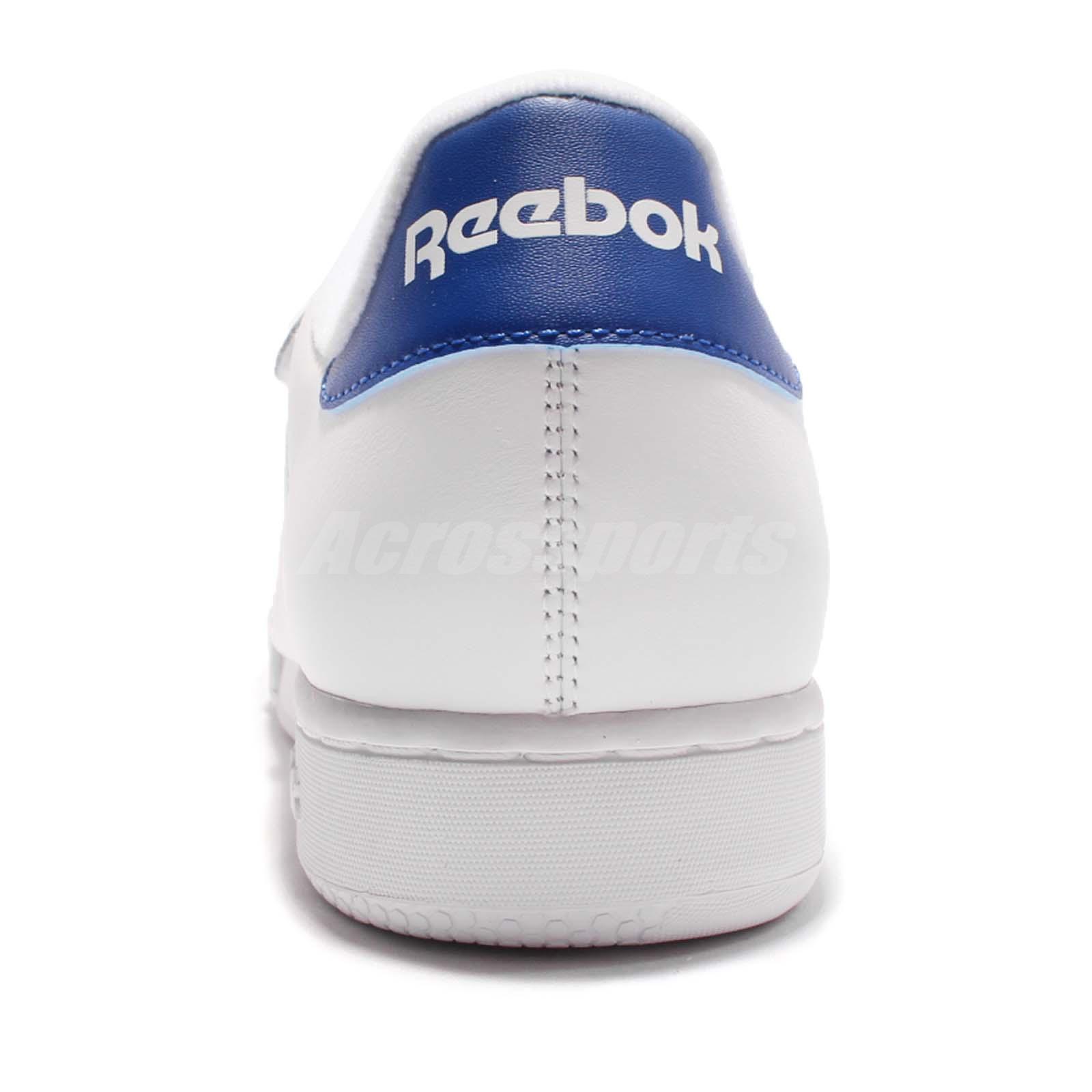 reebok classic white blue