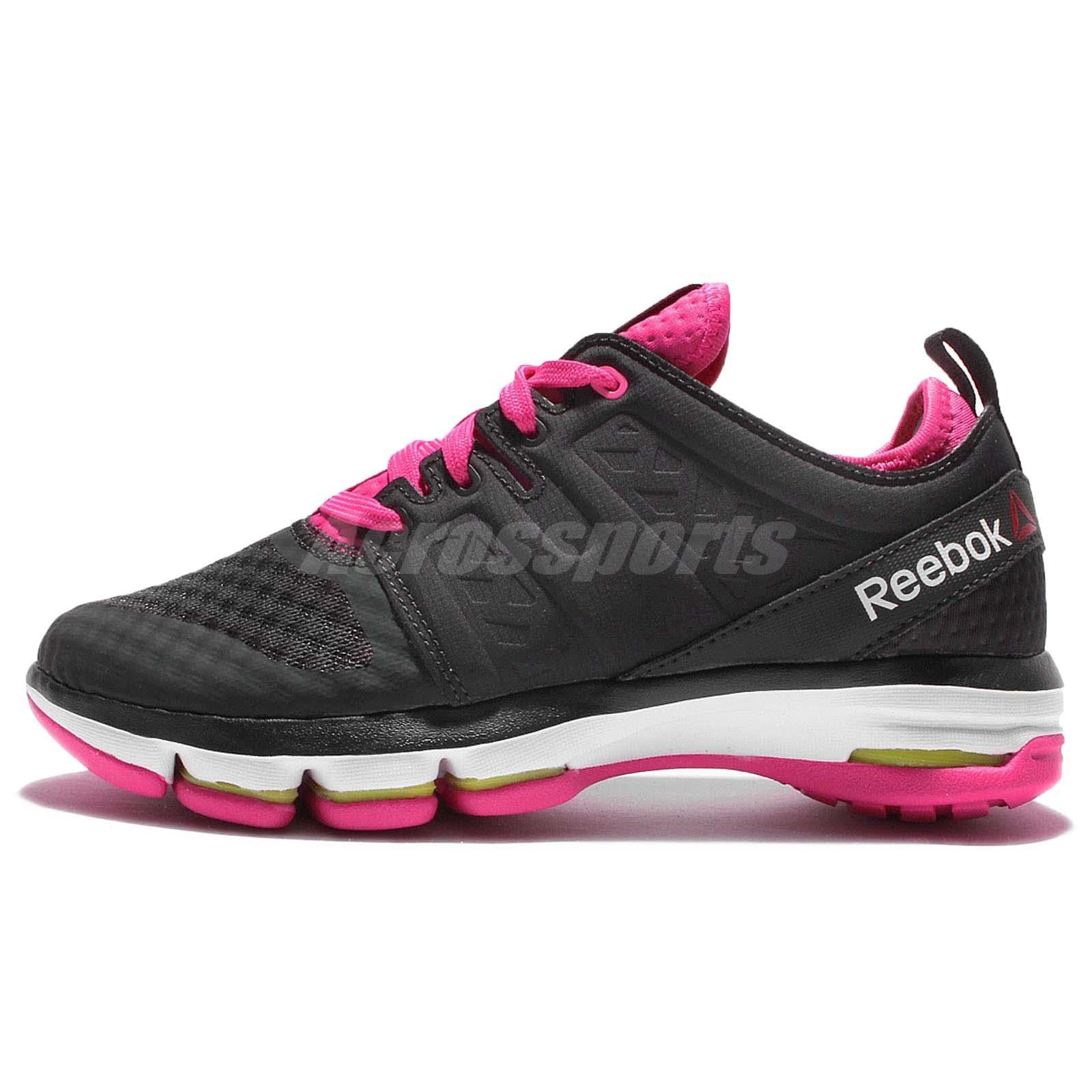 Reebok Women S Cloudride Dmx Black Pink Walking Shoe