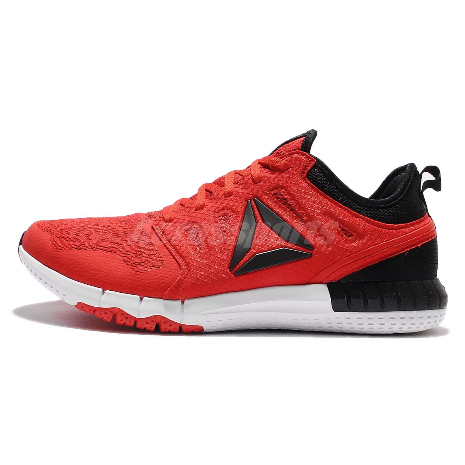 Reebok ZPrint 3D EX Red Black Mens Running Shoes Sneakers Trianers AR2868