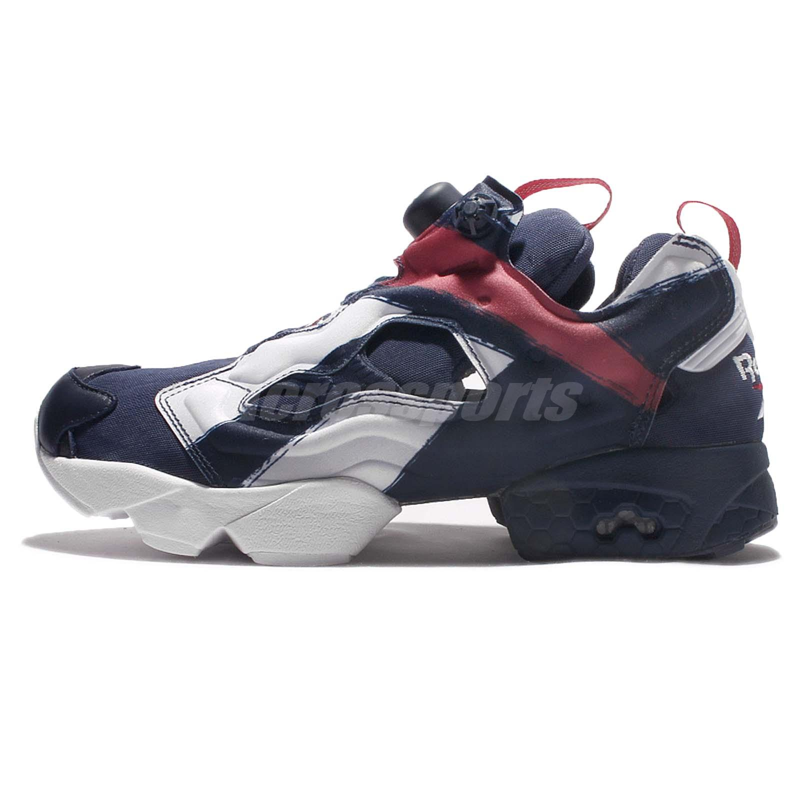 reebok insta pump fury ob overbranded navy red men running shoes sneakers ar3197. Black Bedroom Furniture Sets. Home Design Ideas