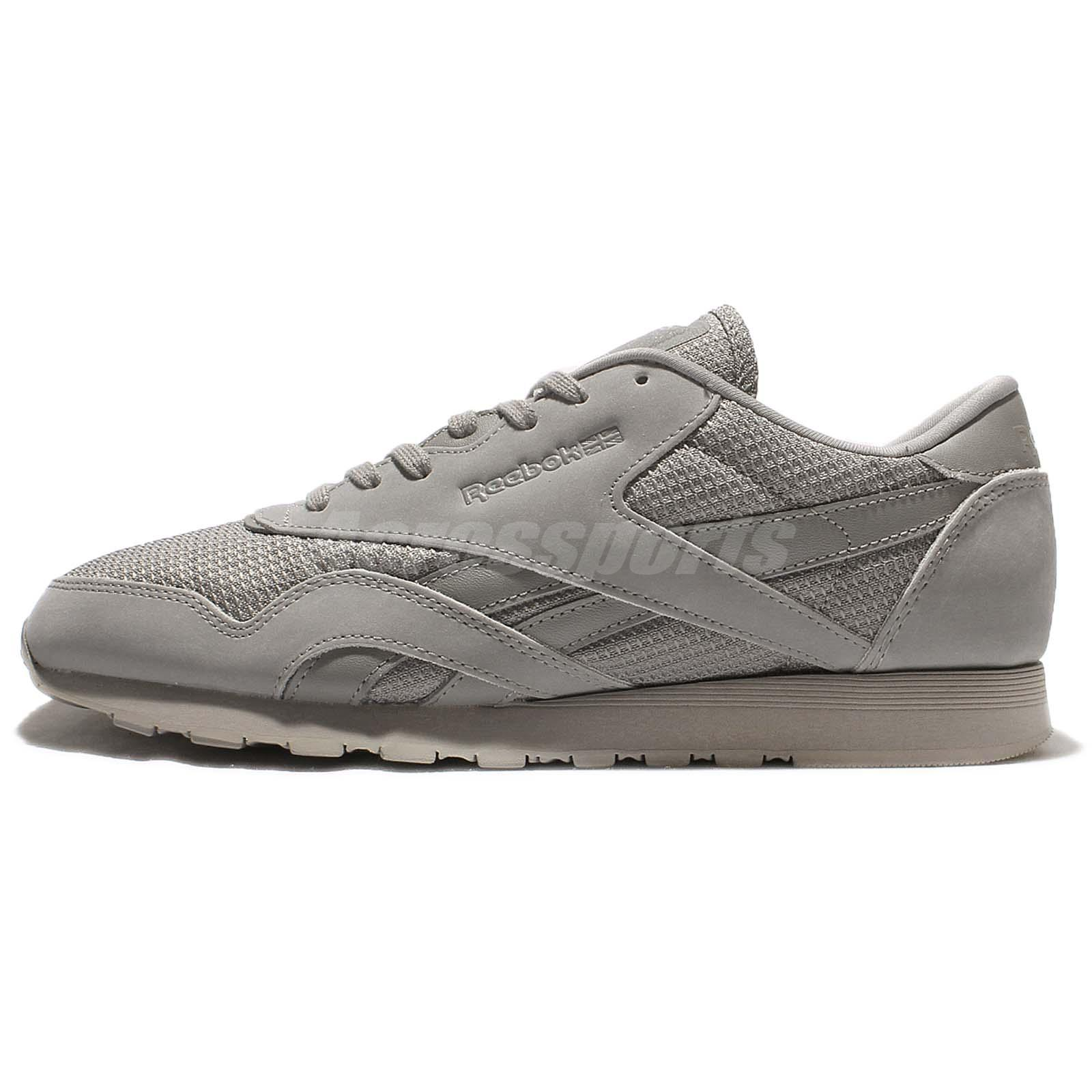 Reebok CL Nylon ST Flat Grey Men Casual Shoes Classic Sneakers Trainers BD1343