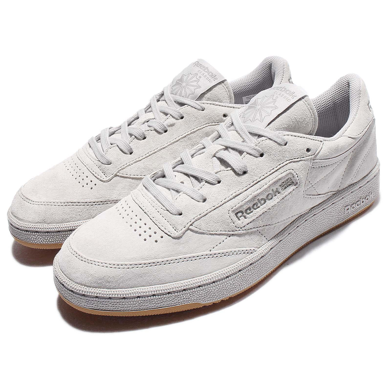 reebok club c 85 tg suede grey gum men classic shoes. Black Bedroom Furniture Sets. Home Design Ideas