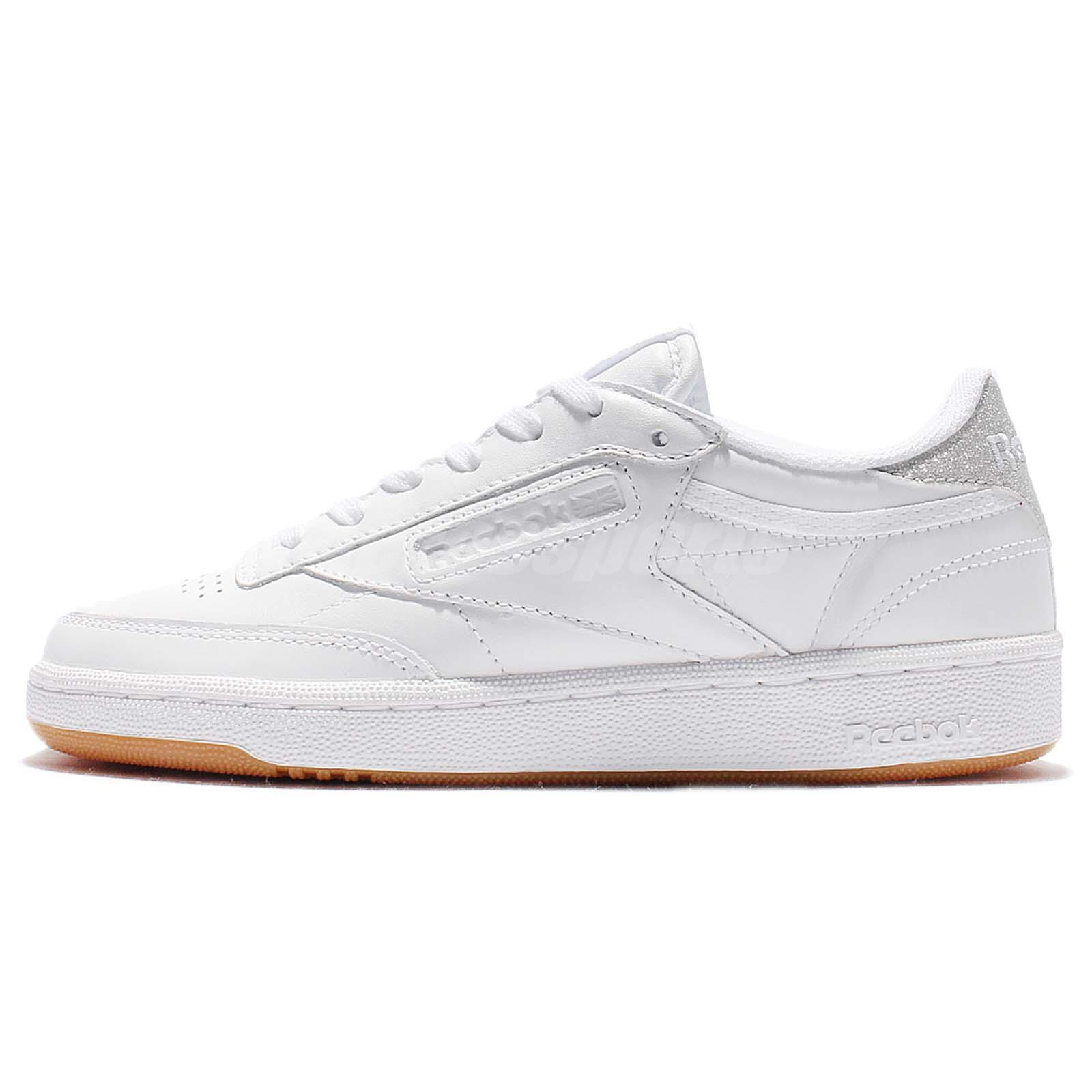reebok club c 85 diamond leather white gum women classic. Black Bedroom Furniture Sets. Home Design Ideas