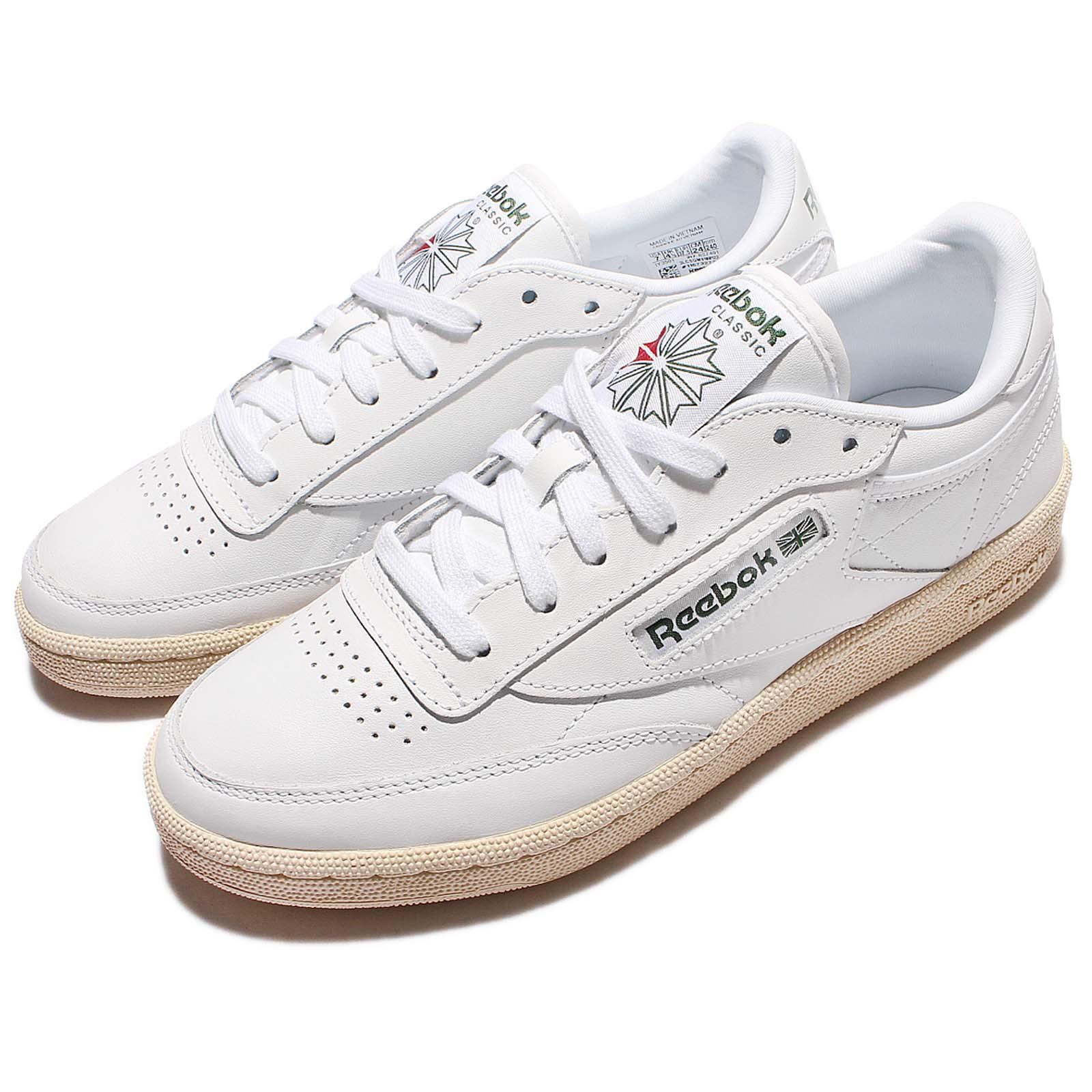 reebok club c 85 su white green leather vintage classic. Black Bedroom Furniture Sets. Home Design Ideas