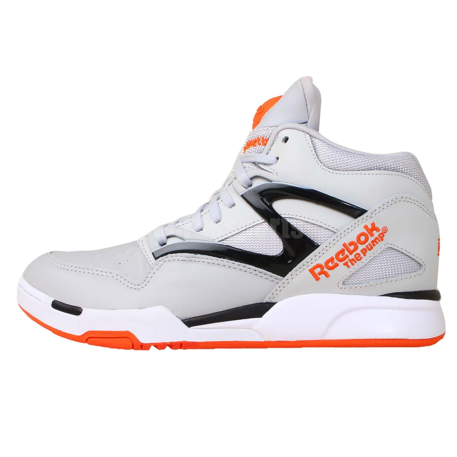 reebok pump omni lite grey black orange 2014 mens retro basketball shoes ebay. Black Bedroom Furniture Sets. Home Design Ideas