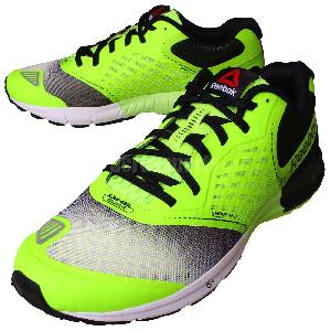Reebok e Guide 2 0 Neon Yellow Black White Mens Running #1: th M 8