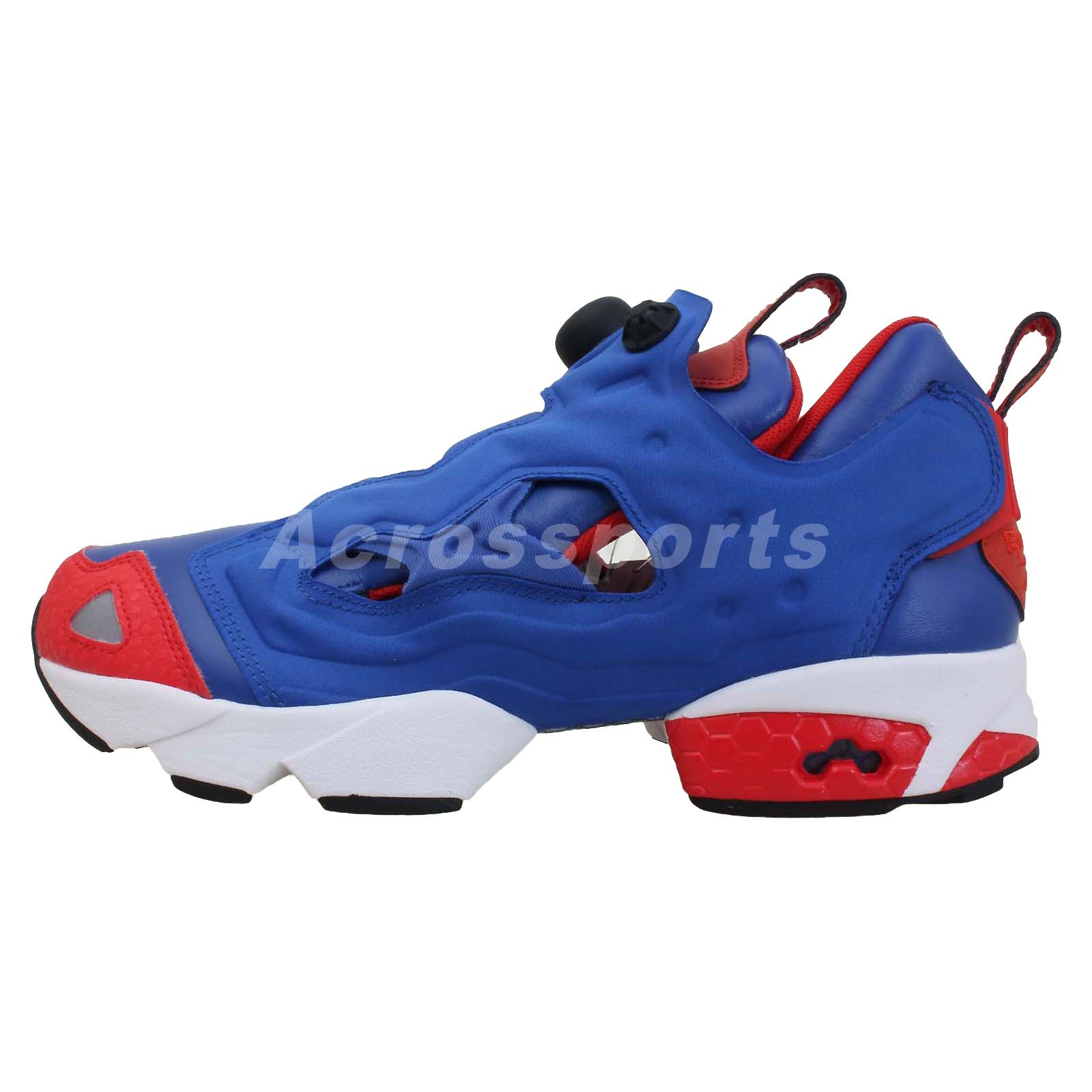 reebok insta pump fury blue red 2013 mens running shoes