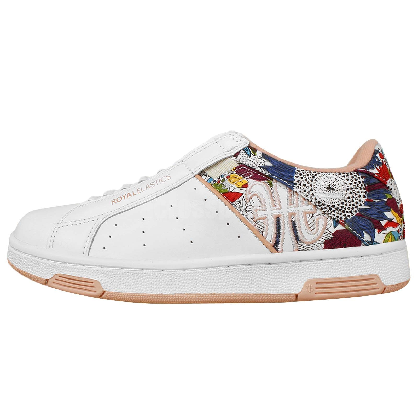 royal elastics icon white floral womens new casual shoes