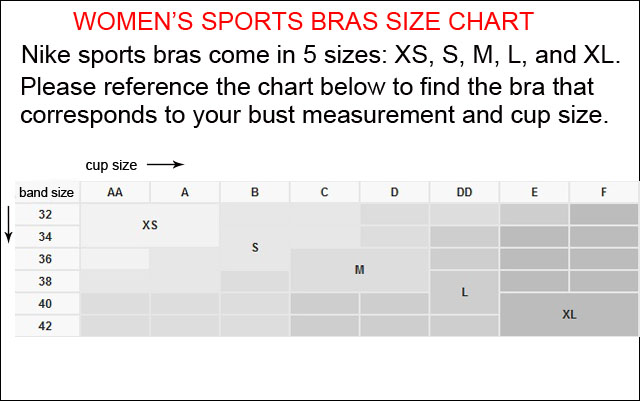 Sports bra sizing