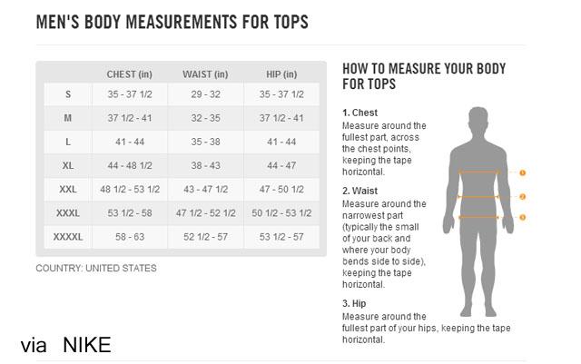 Nike shorts size chart socialmediaworks co