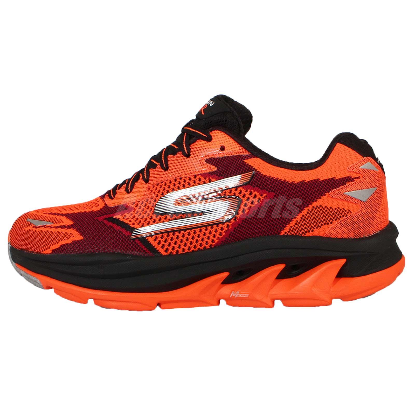 skechers go run ultra r road orange black silver mens. Black Bedroom Furniture Sets. Home Design Ideas