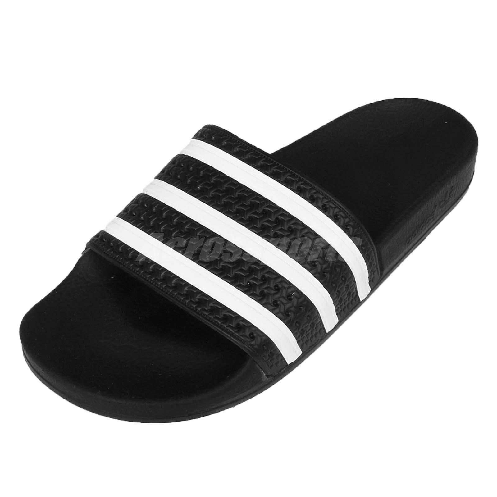 gran venta sitio oficial como escoger adidas Performance Adilette Black White Men Sports Sandal Slide ...
