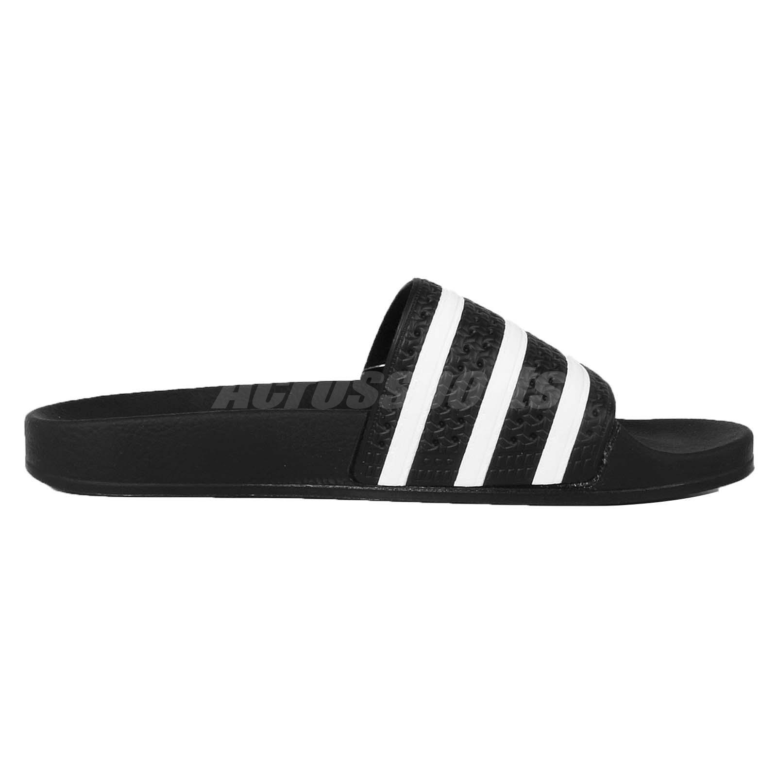 4eb69ba8383b adidas Performance Adilette Black White Men Sports Sandal Slide ...