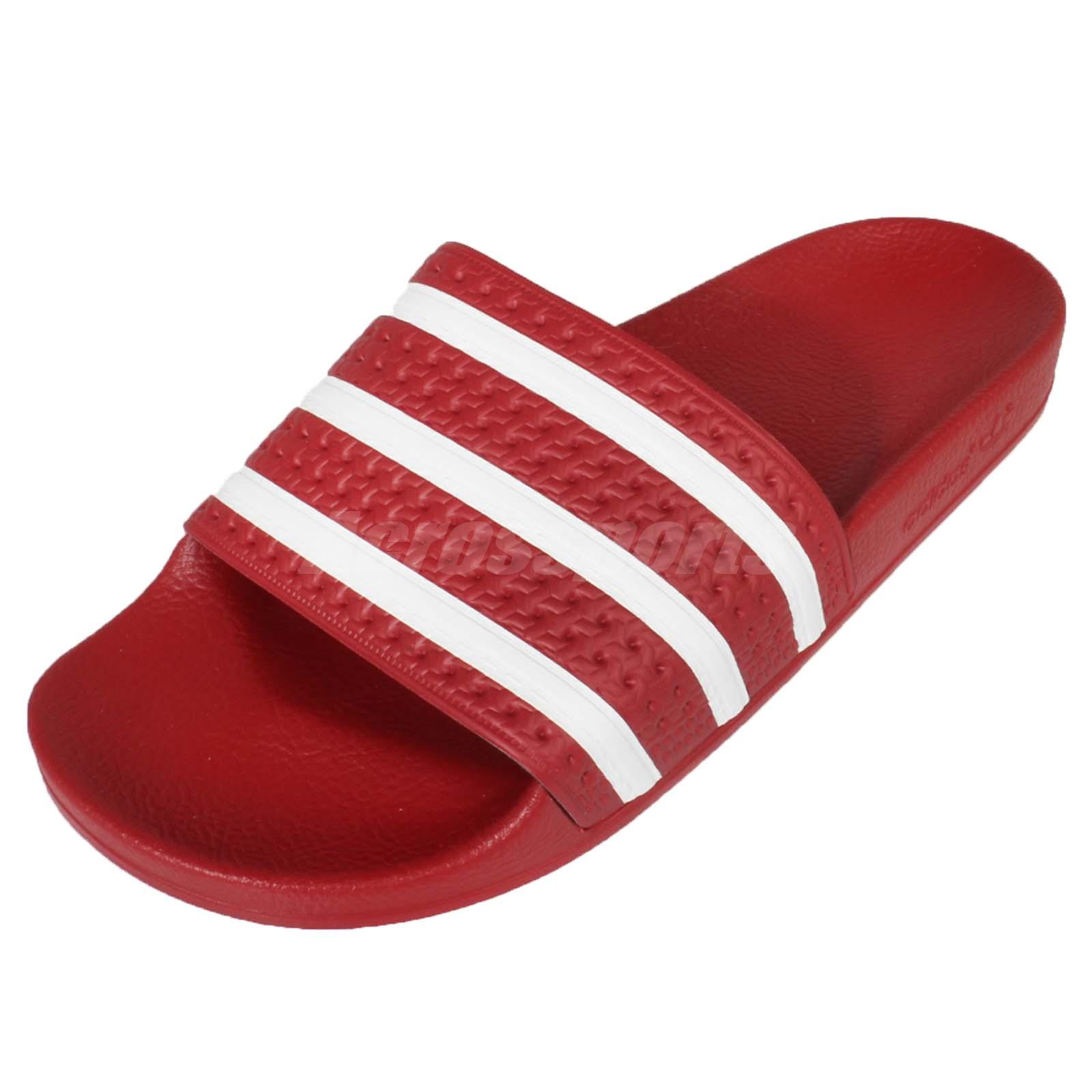 43bd86f460ca adidas Performance Adilette Red White Mens Sports Sandals Slides Slippers  288193