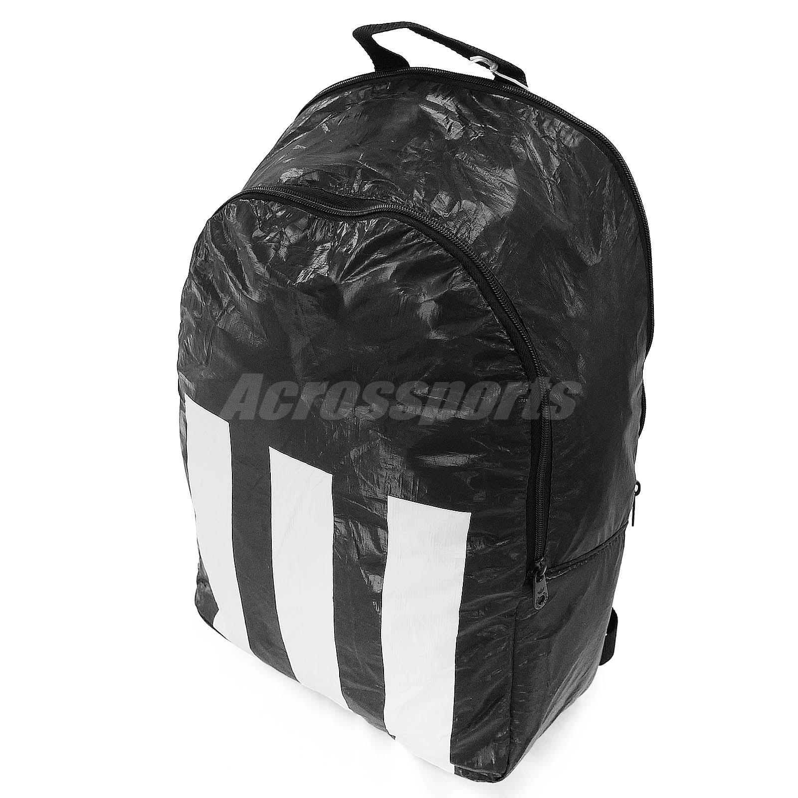 Details about adidas Performance Berlin Backpack Black White 3-Stripes Book  Bag AB2990 827fd754cd48c