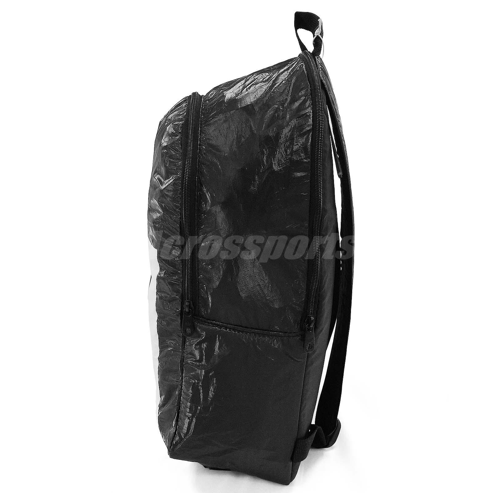 386fae54f3 adidas Performance Berlin Backpack Black White 3-Stripes Book Bag ...