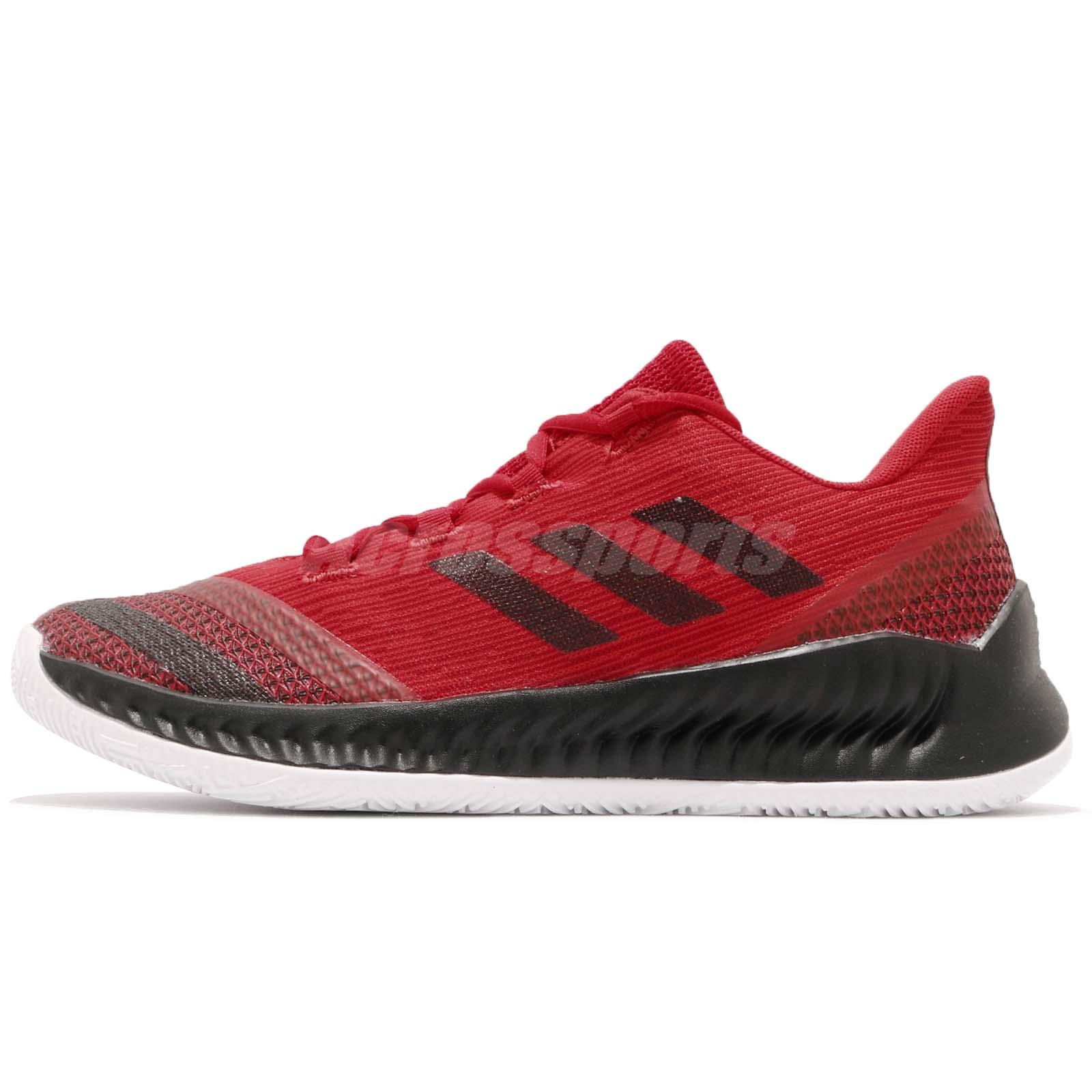 9595c48726aa adidas Harden B E 2 J James Scarlet Red Black Kid Junior Basketball Shoes  AC7642