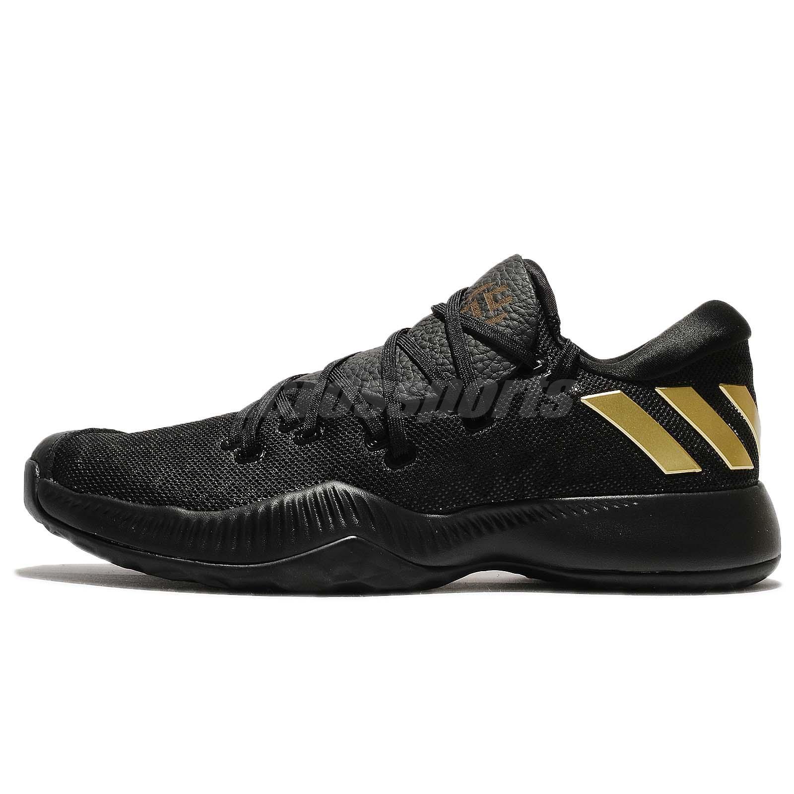 903465330 adidas Harden B E James Bounce Black Gold Men Basketball Shoes Sneakers  AC7819